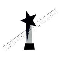 Стеклянная Стэлла Black star   PB306