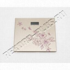 Весы матовые (квадратные) с узором роз.   В3333