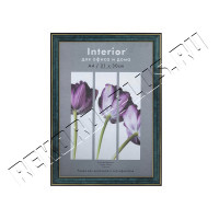 Рамка для сертификата Interior Office 21x30 (A4) 285/267 малахит, со стеклом  артикул 5-07144