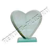Стеклянная статуэтка сердце   РК00418