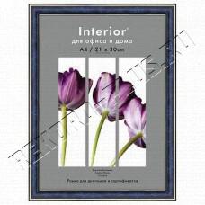 Купить Рамка для сертификата Interior Office 21х30 серия Арте синий, со стеклом артикул 1-03000   9С-6 в Симферополе