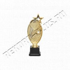 Статуэтка пластик венок звезда с местом под жетон R017